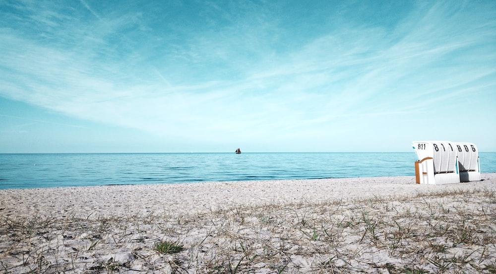 white sand near seashore