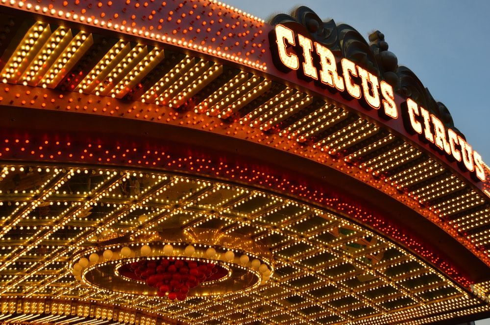architectural photography of Circus Circus