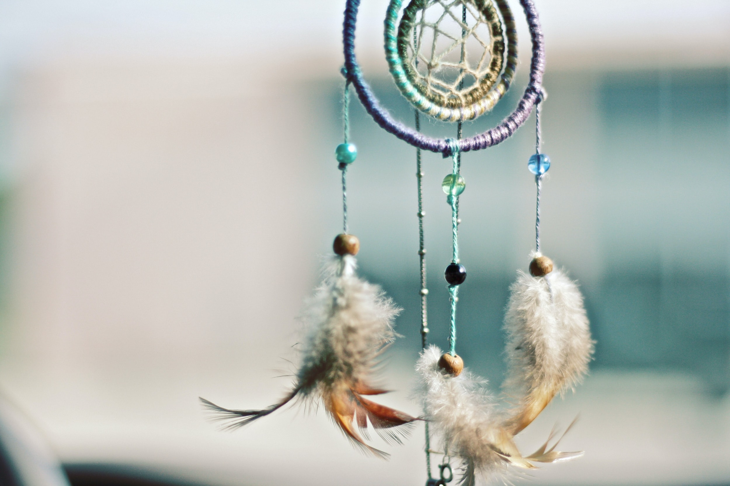 selective focus photography of multicolored dream catcher