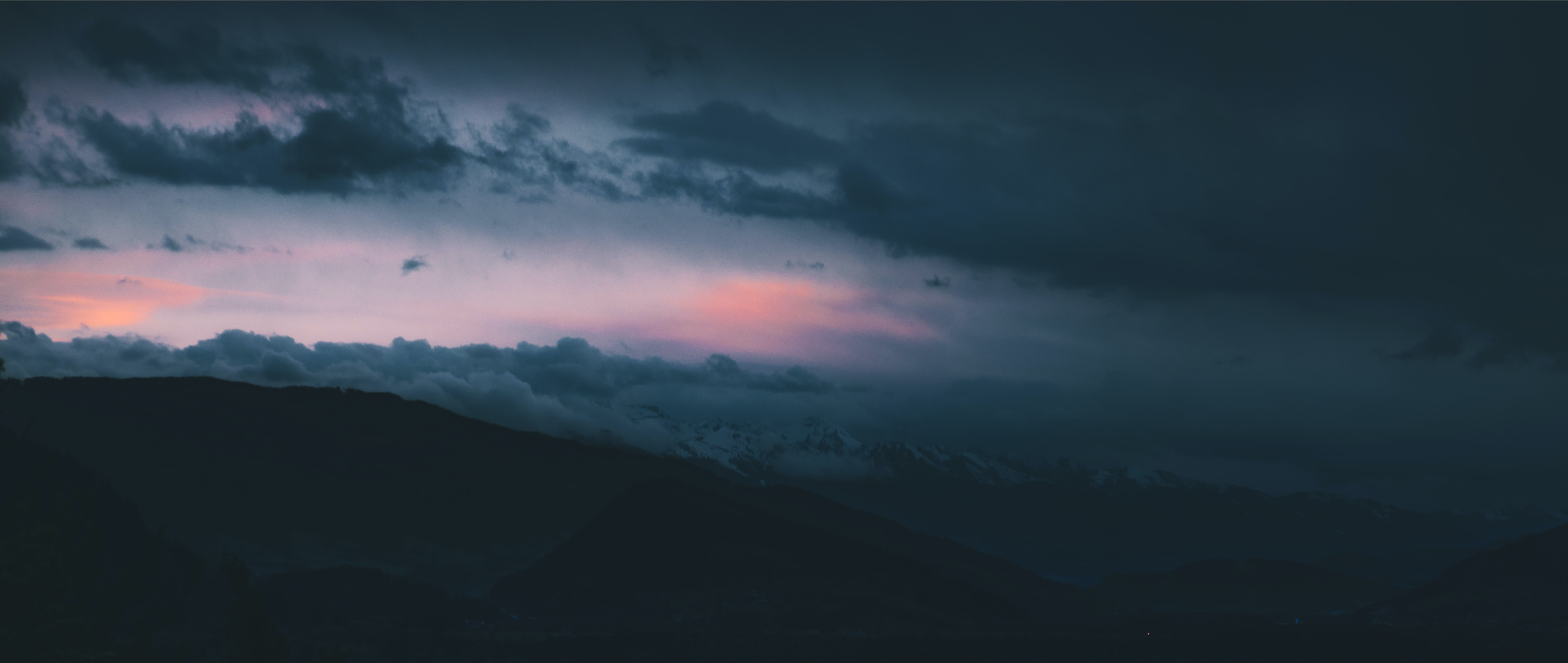 landscape photography of mountains during nighttime