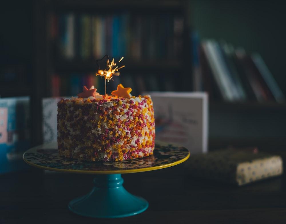 cake on tray