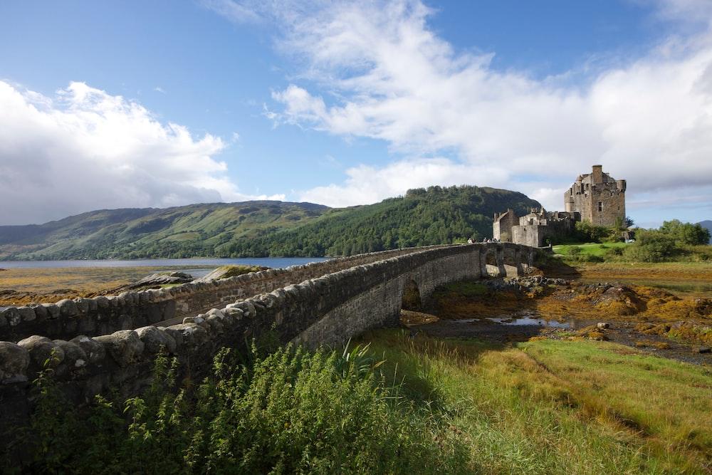 concrete bridge leading to castle
