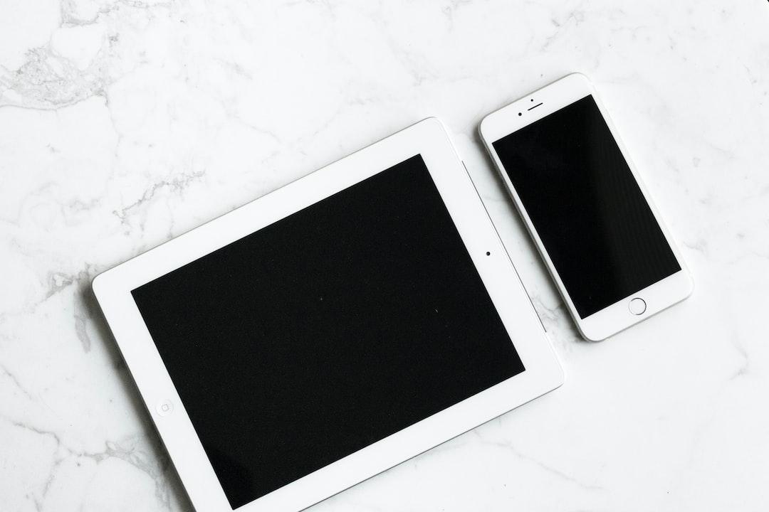 monochrome tablet smartphone