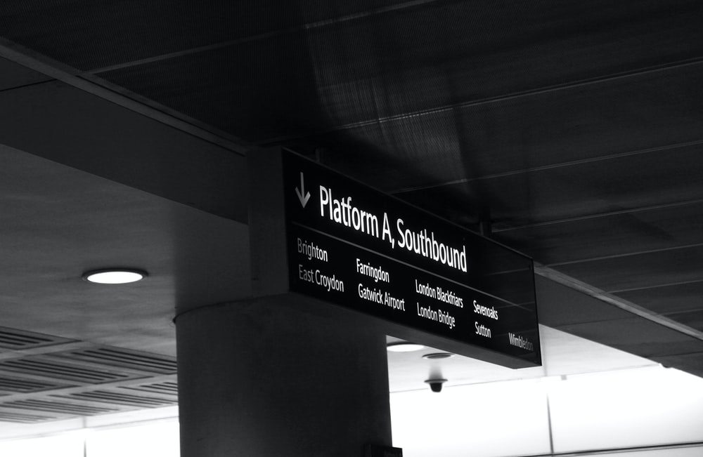 platform a, southbound signage