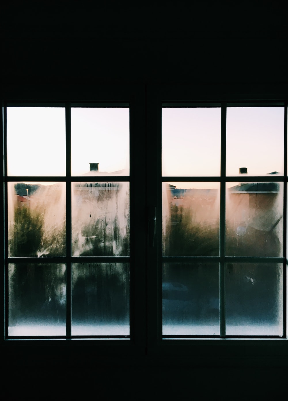 white steel window