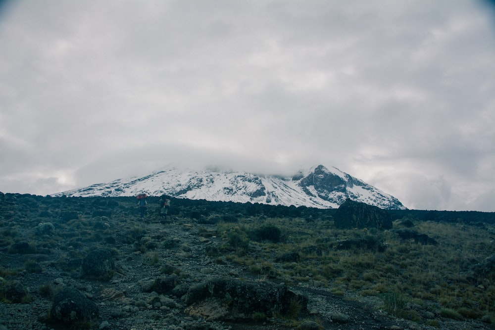 snow-covered mountain during daytime
