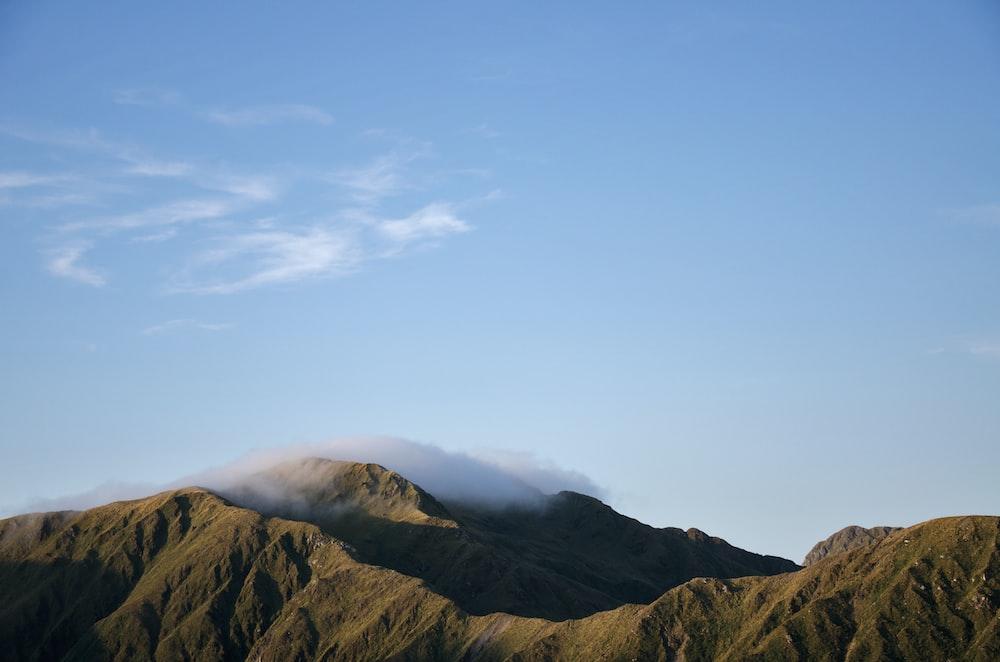 photo of gray hills