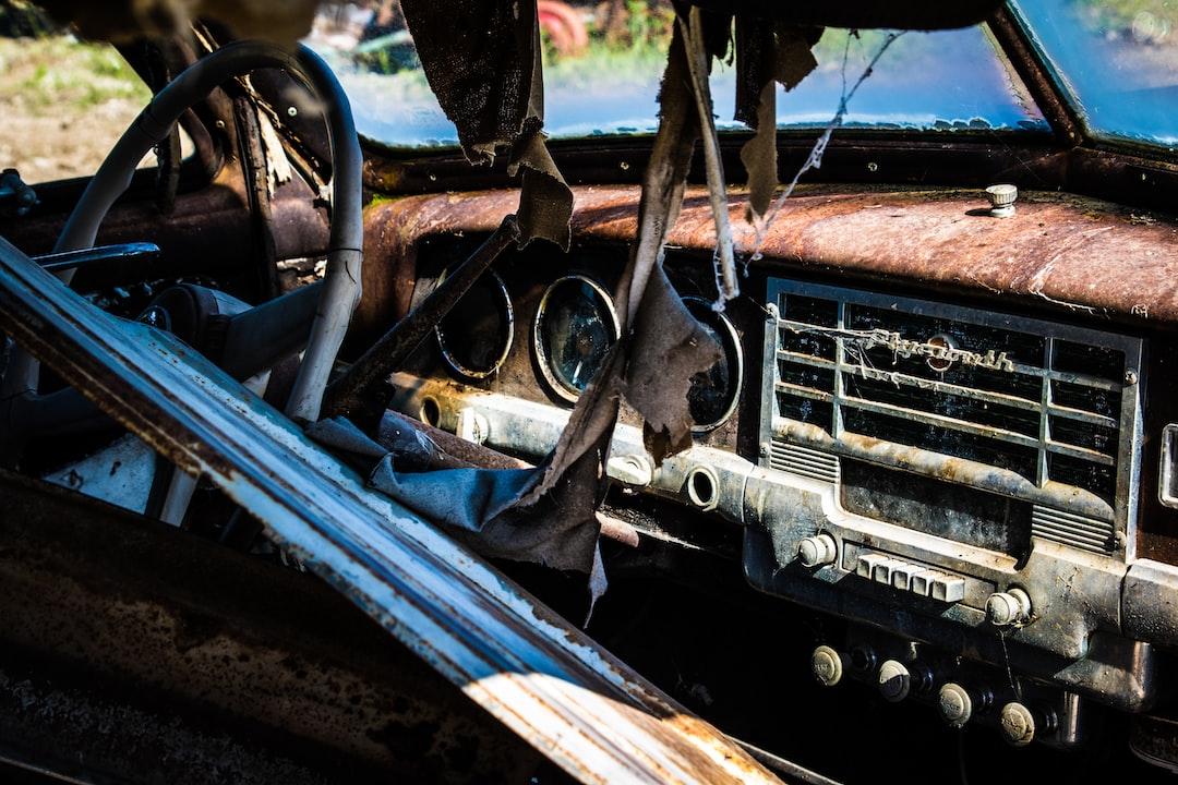 Rusty Plymouth passenger seat