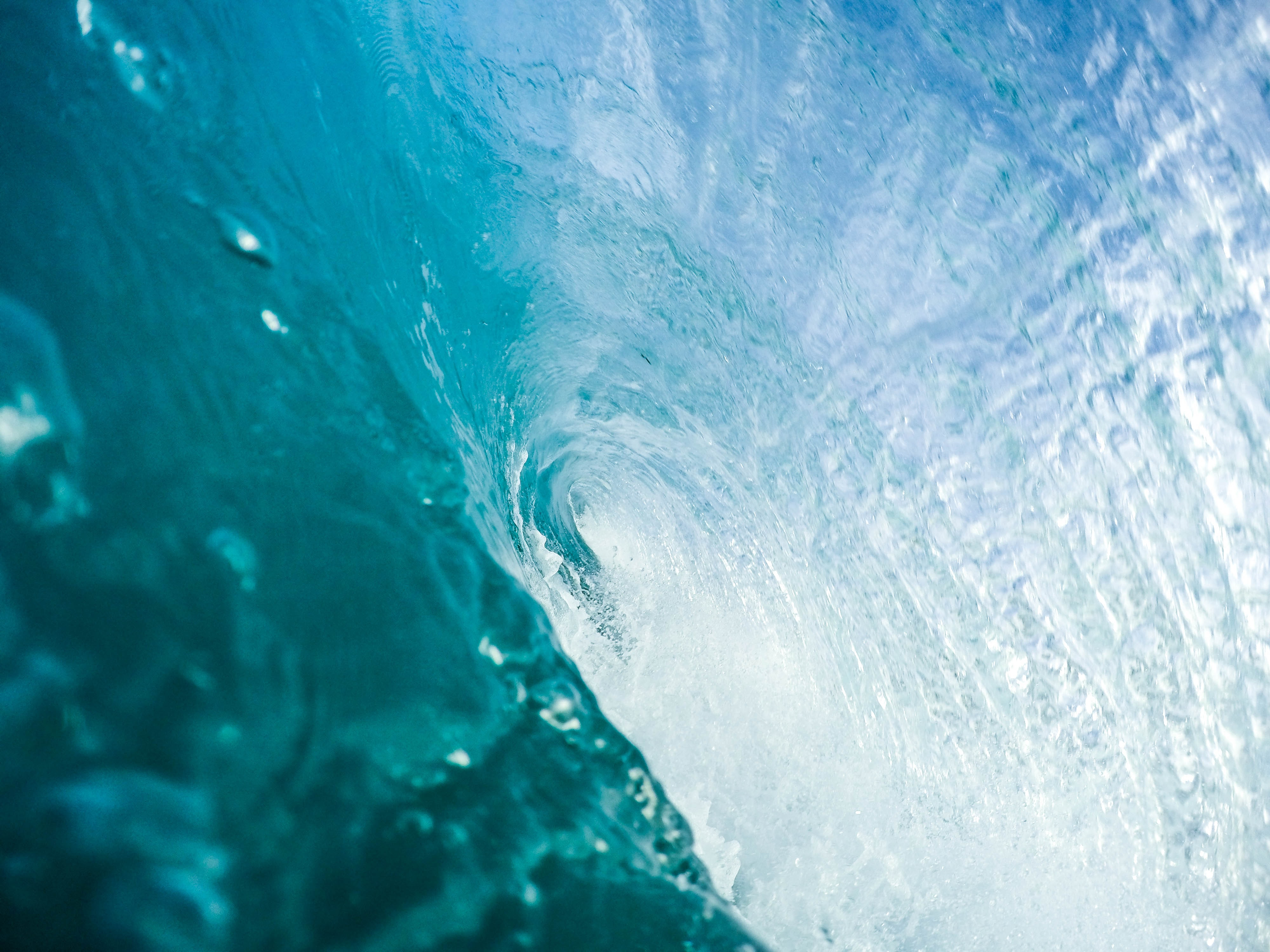 time-lapse photography of clear blue water