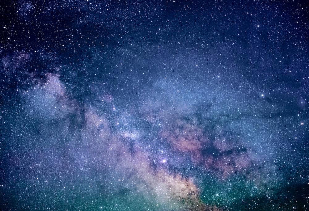 blue and purple galaxy digital wallpaper