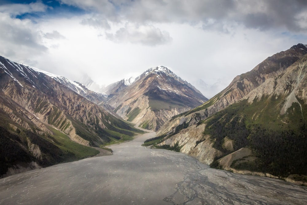 winding road through mountain
