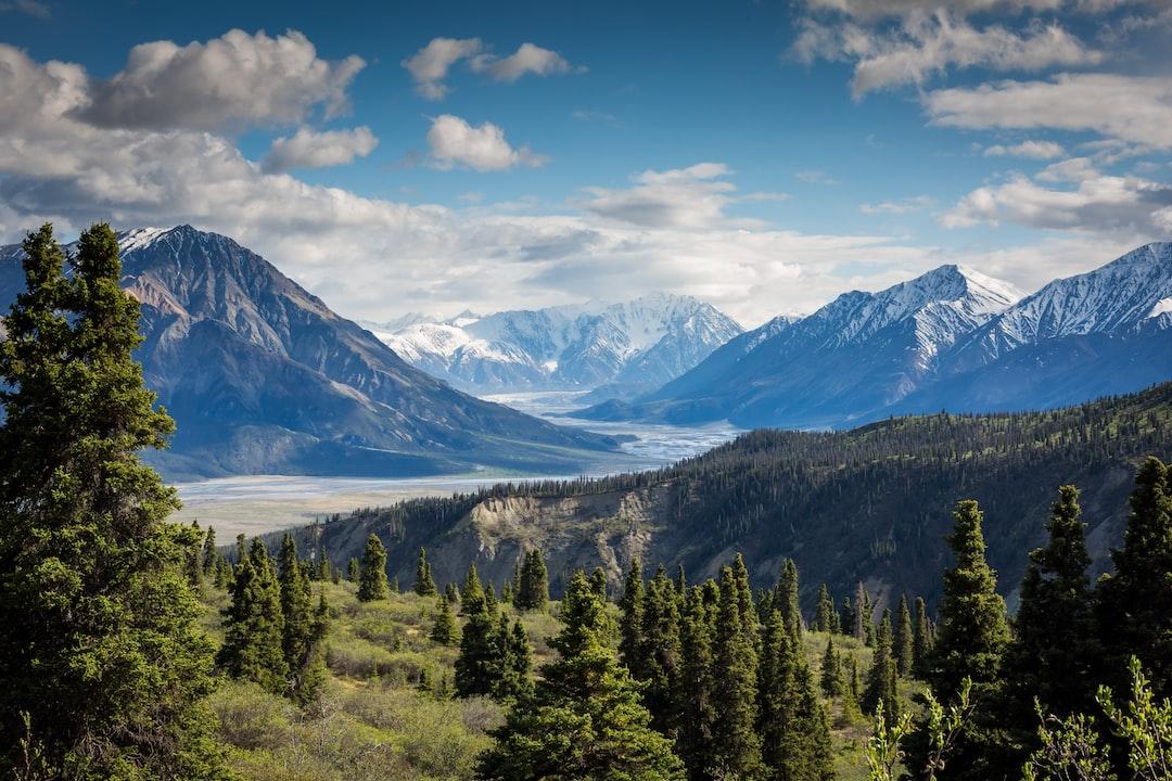 green mountain across body of water in Canada