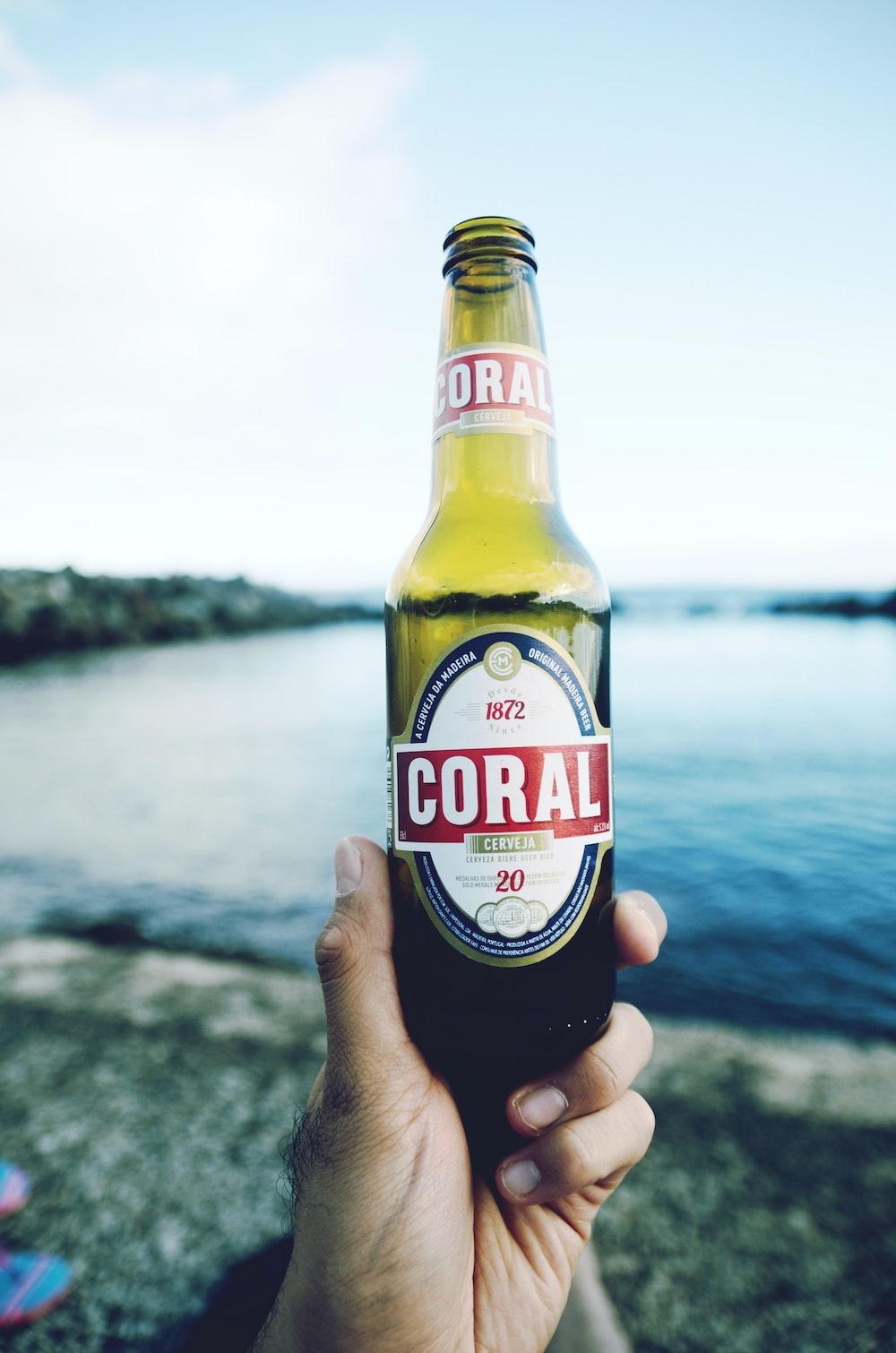 1872 Coral labeled bottle