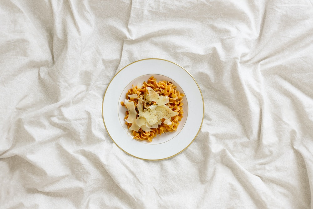pasta with sauce on plate