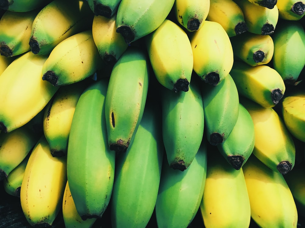 shallow focus photography of bananas