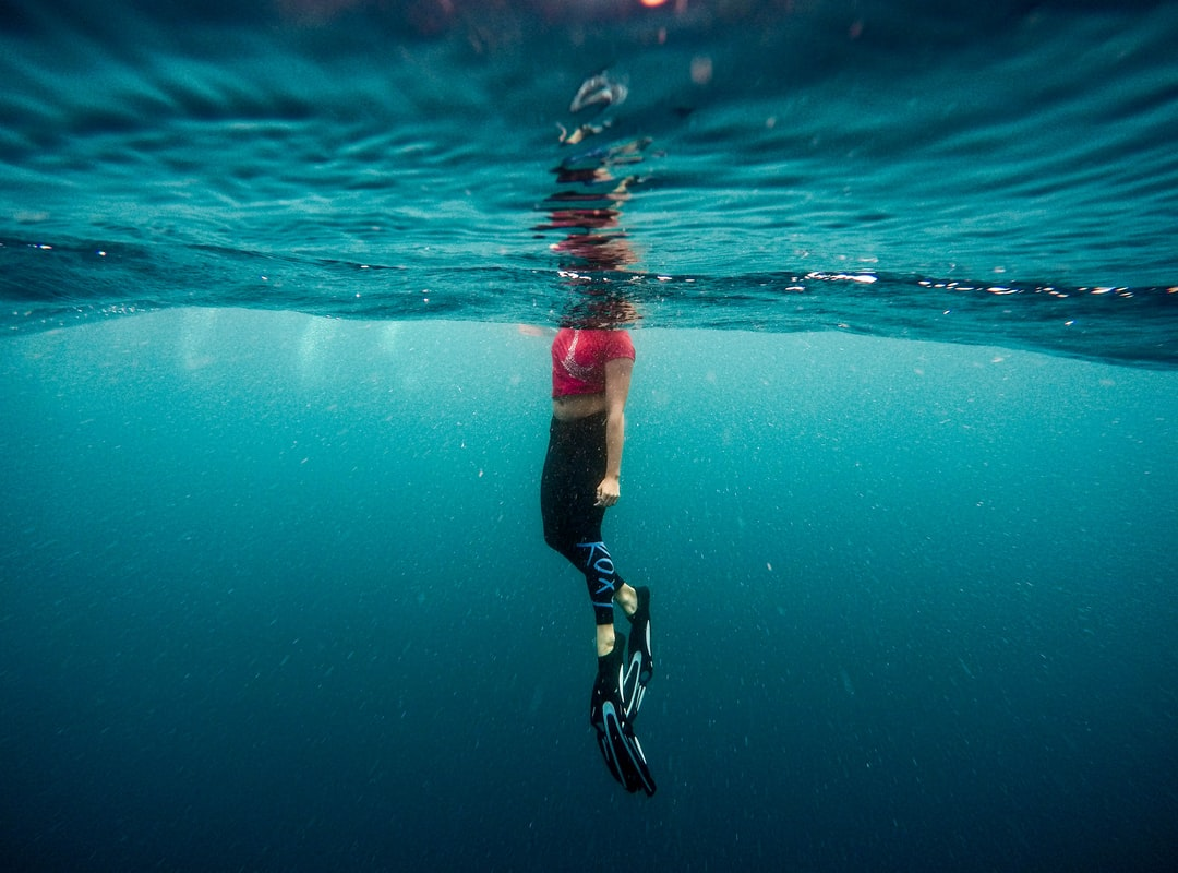 Underwater, ocean, person and swimming HD photo by Jeremy ...