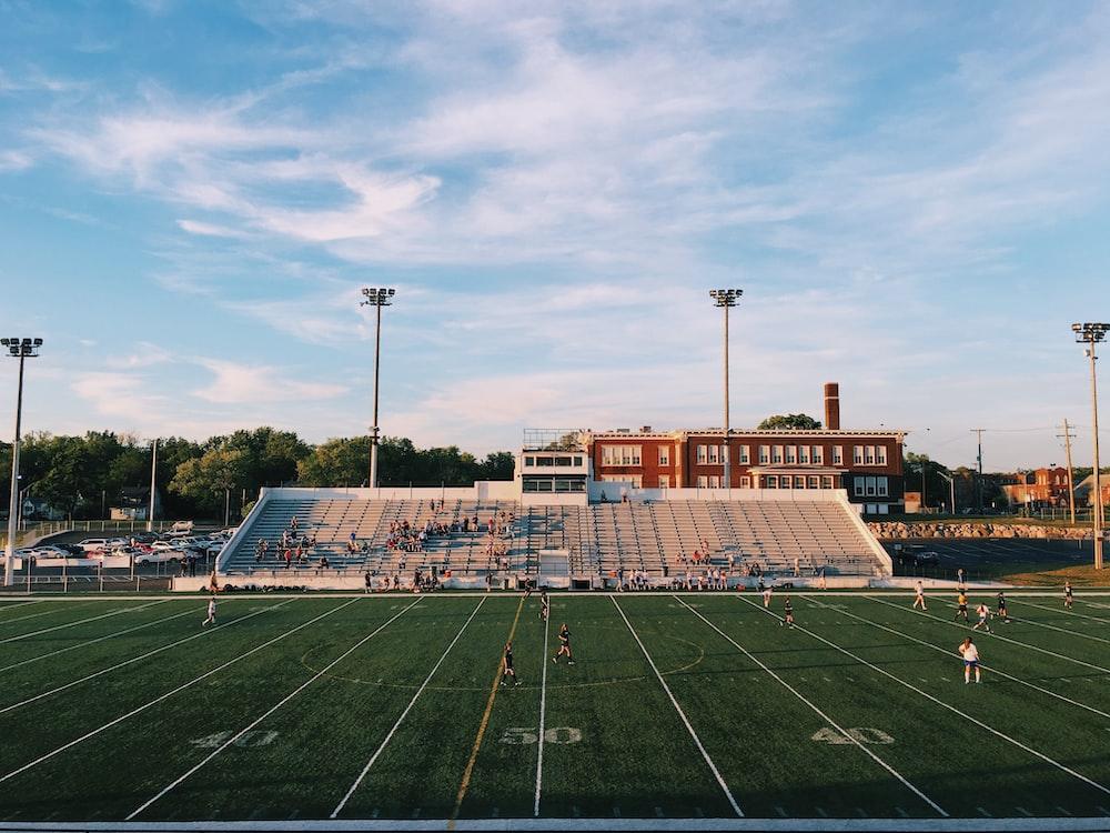 American football stadium with people