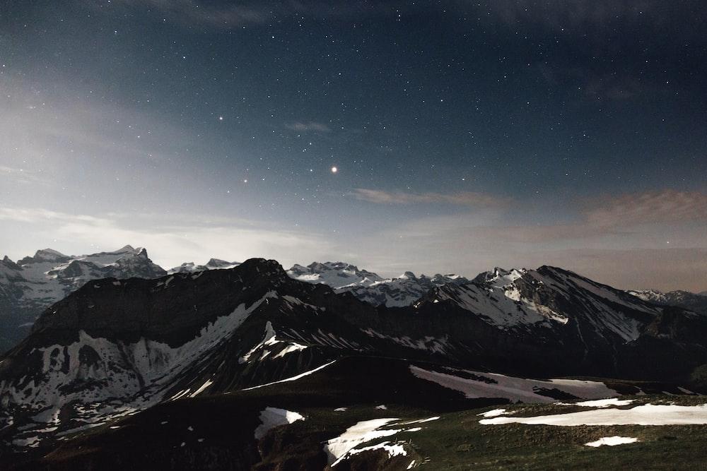 Landscape Photography Of Black And White Mountain Photo Free Nature Image On Unsplash