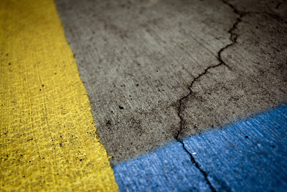 grey and yellow concrete pavement