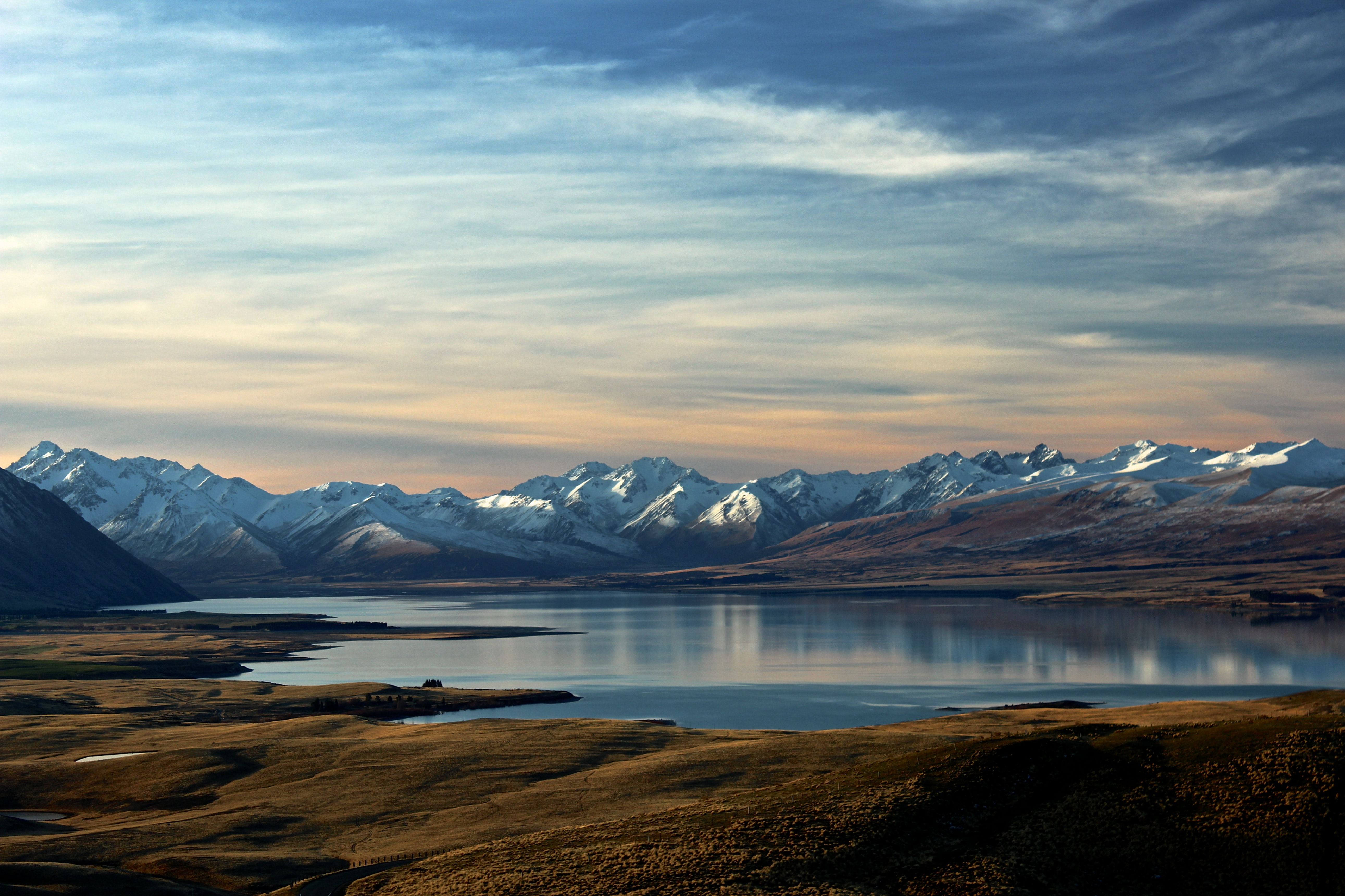 landscape photography of lake and mountain