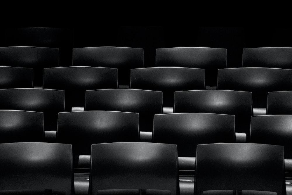gray cinema chair formation