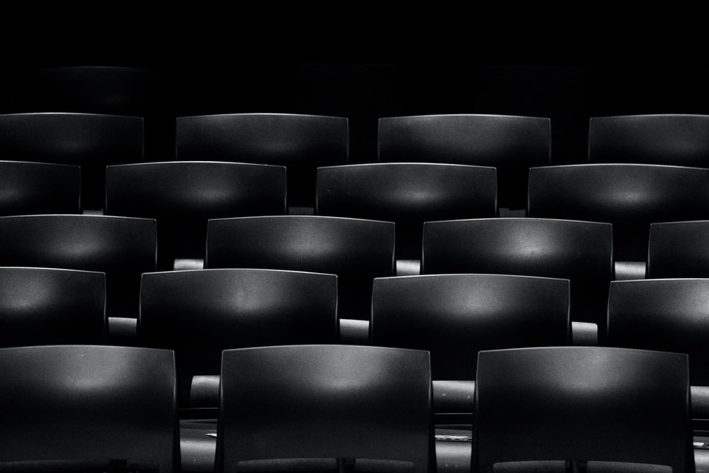 gray cinema chair formation