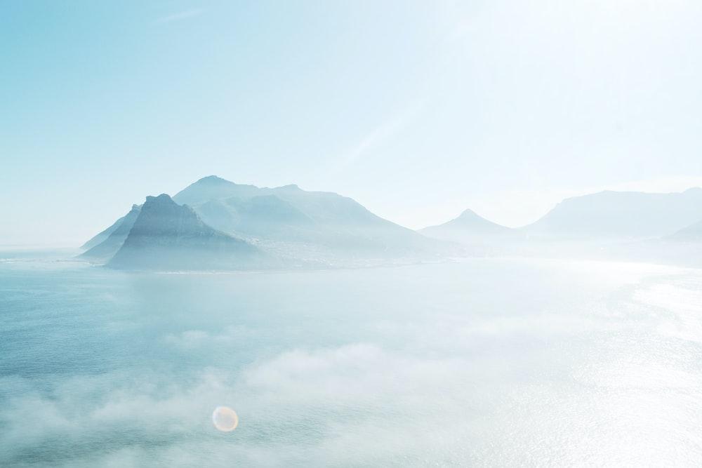 bird's-eye view photography of mountain