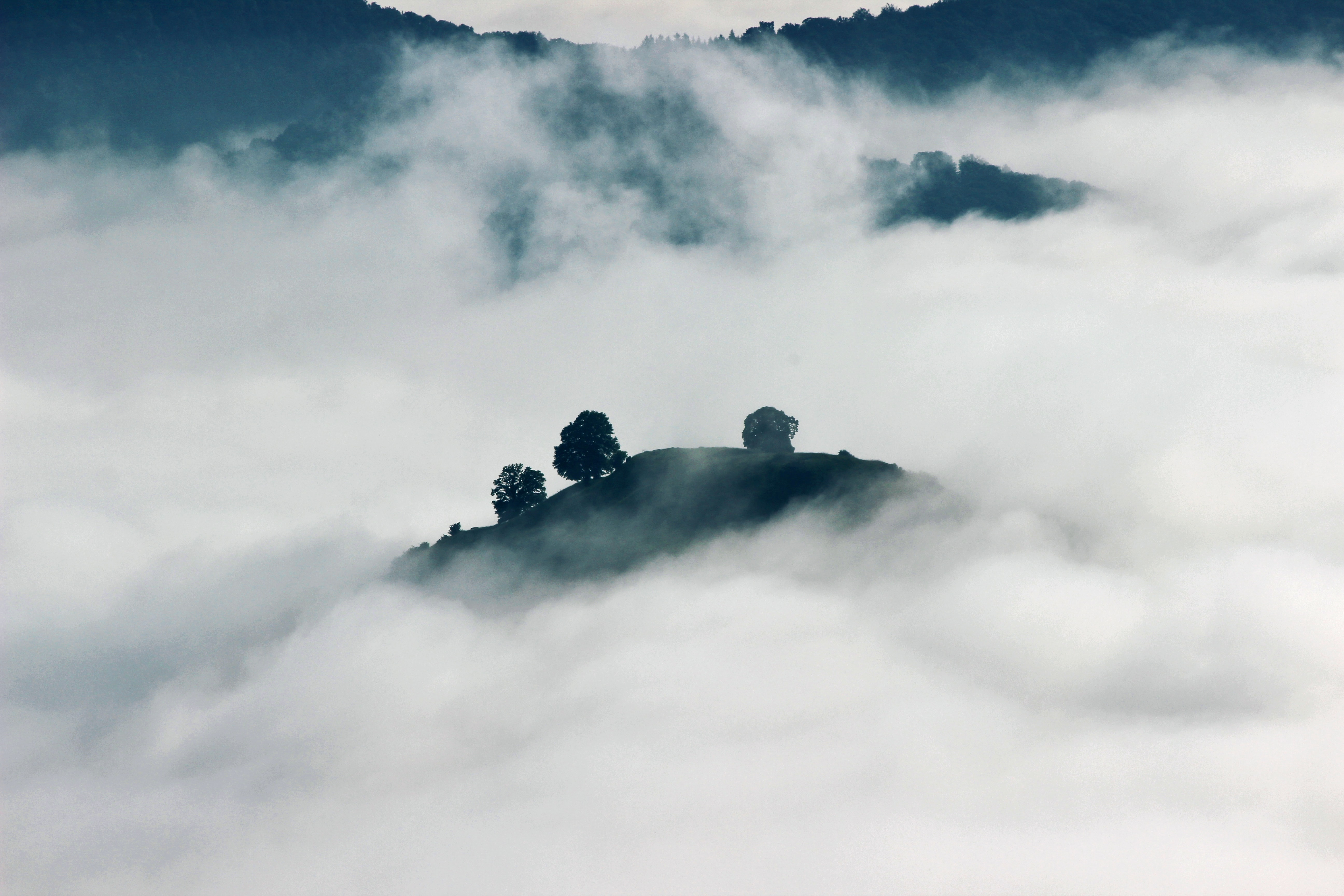 Clouds roll over hillsides in Germany