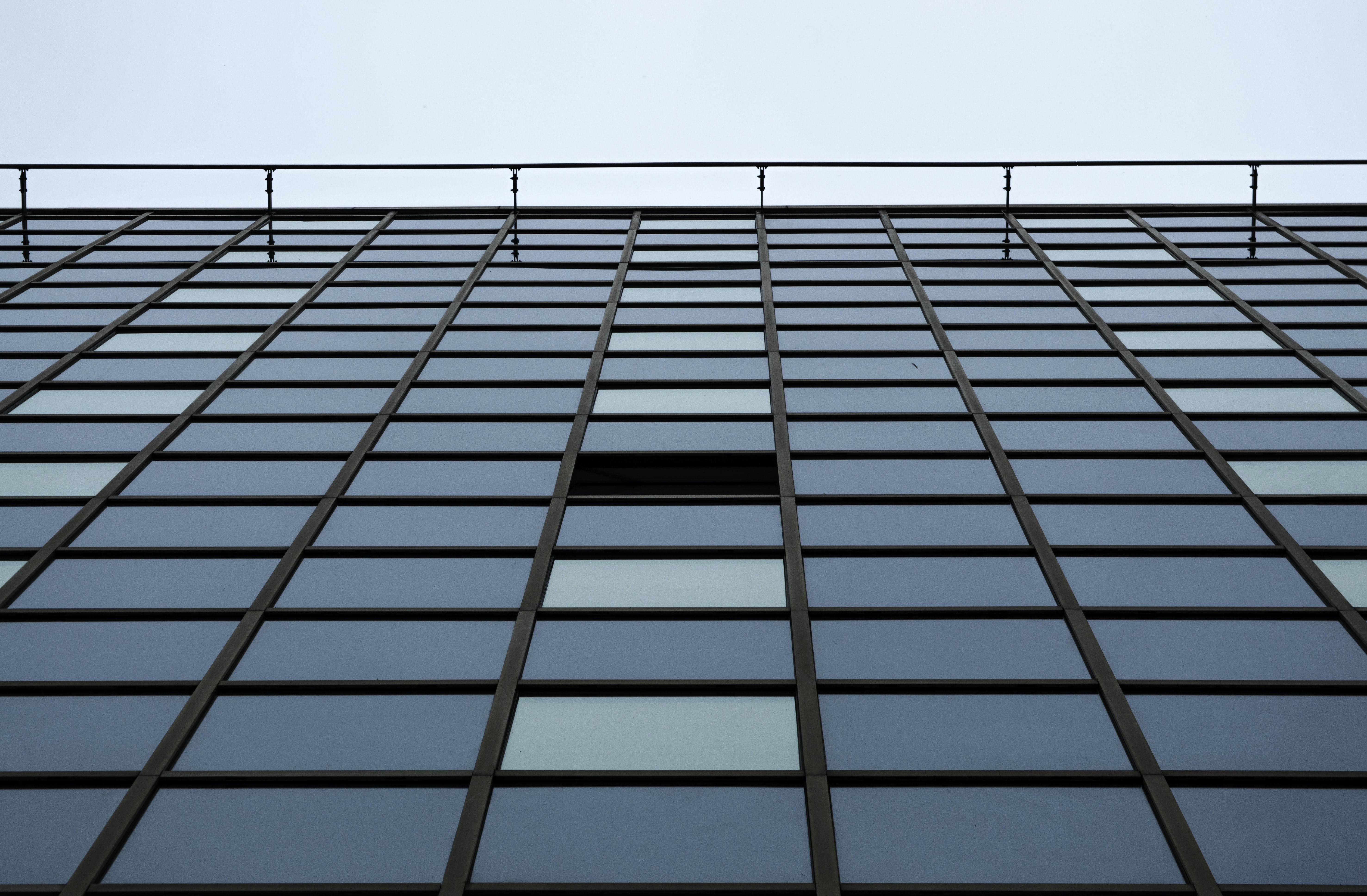 landscape photography of mirror building
