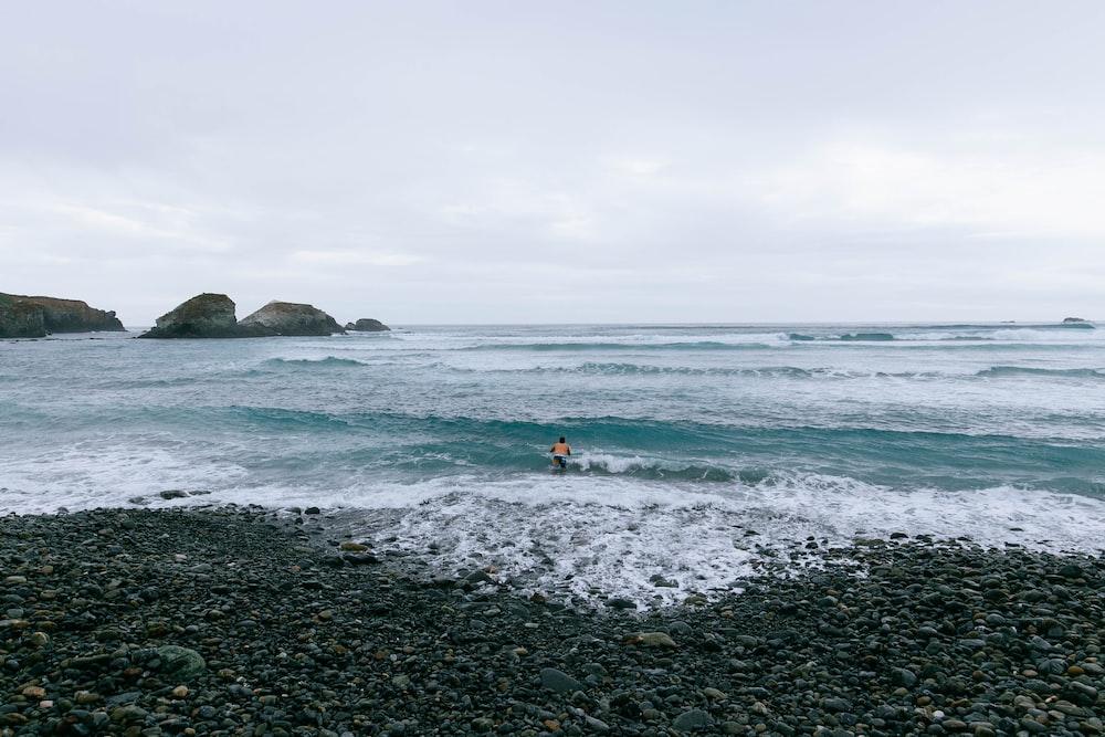 landscape photography of coastline