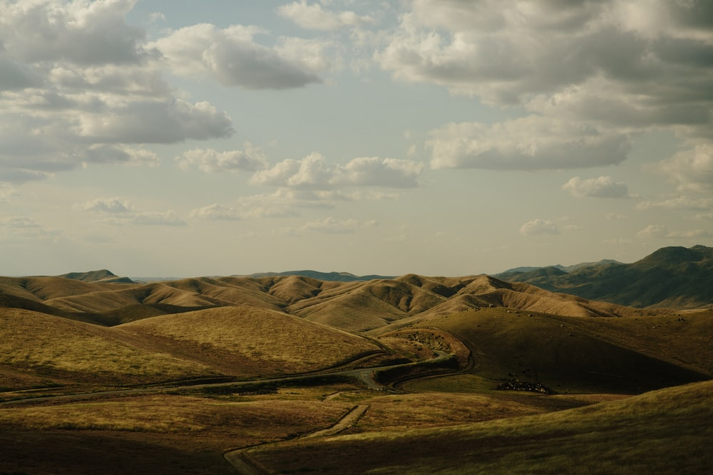 photo of brown hills