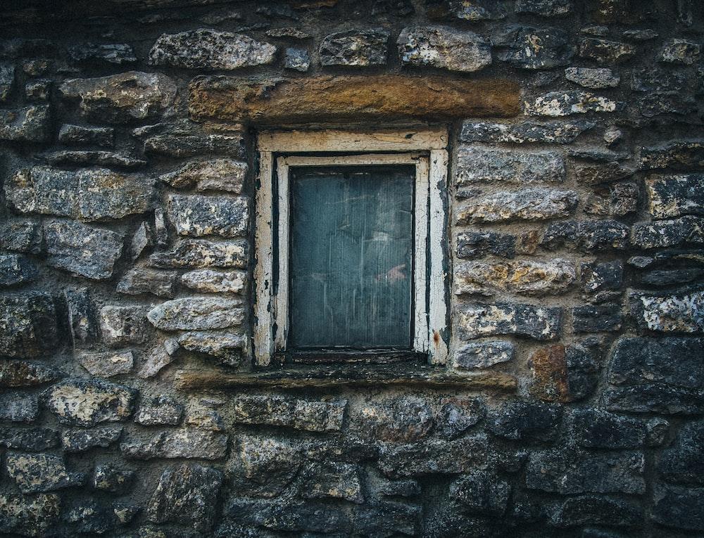 white wooden window frame