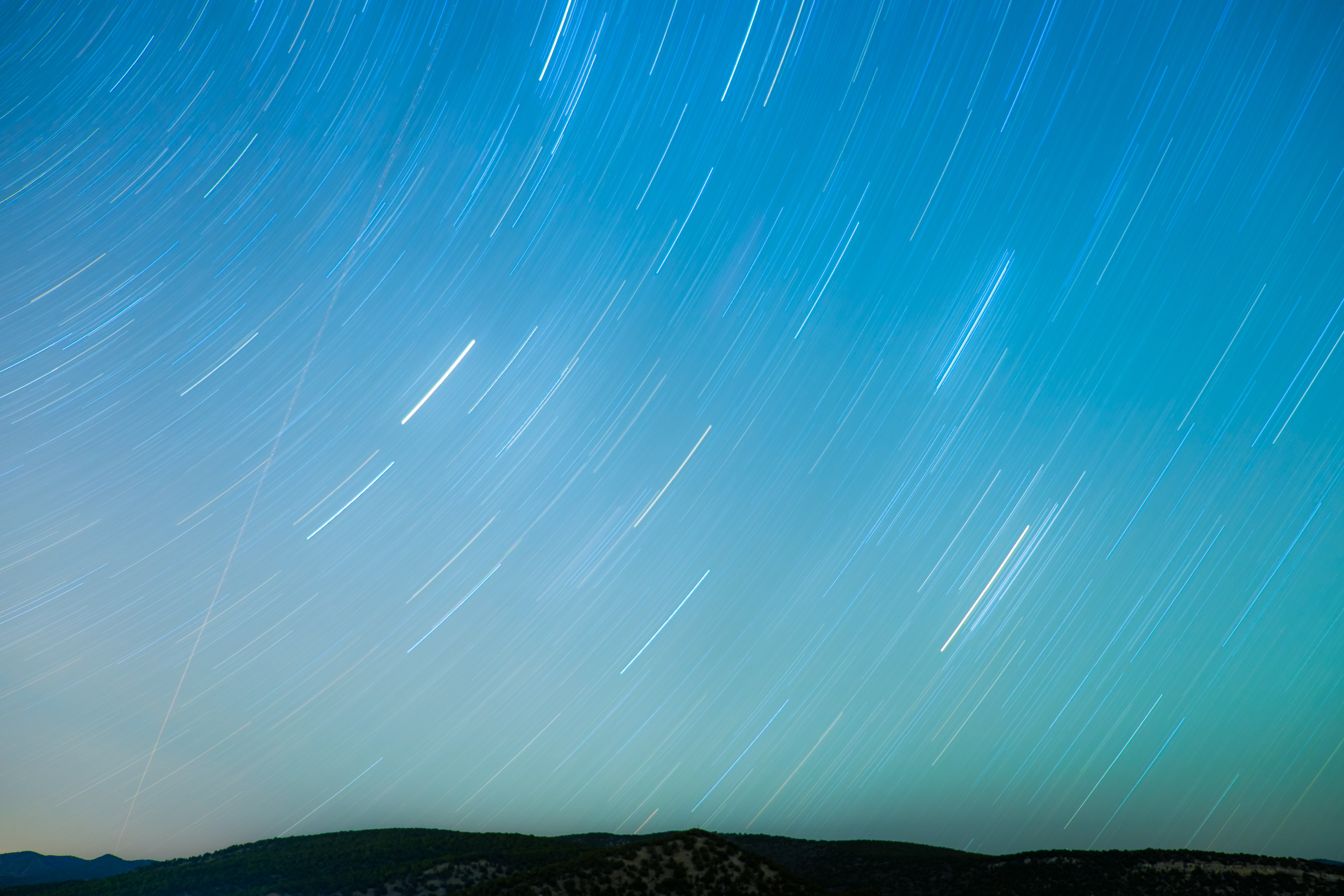 The stars and night sky in movement in Park City