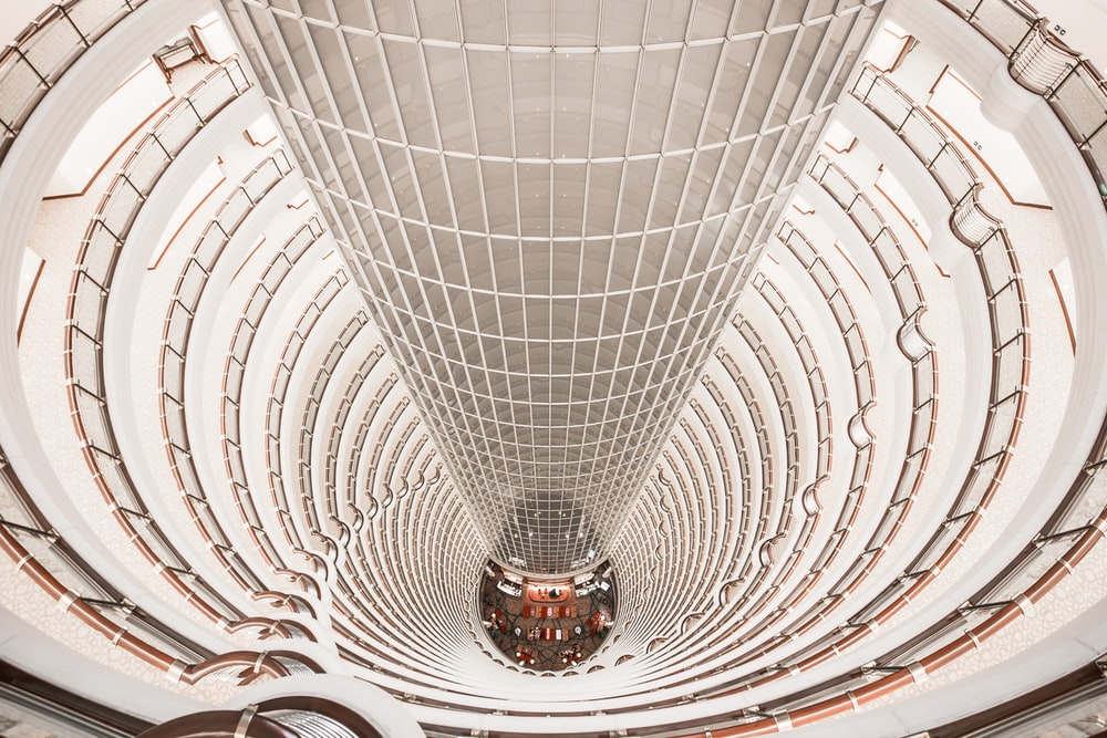 low-angle photography of Jin Mao Tower
