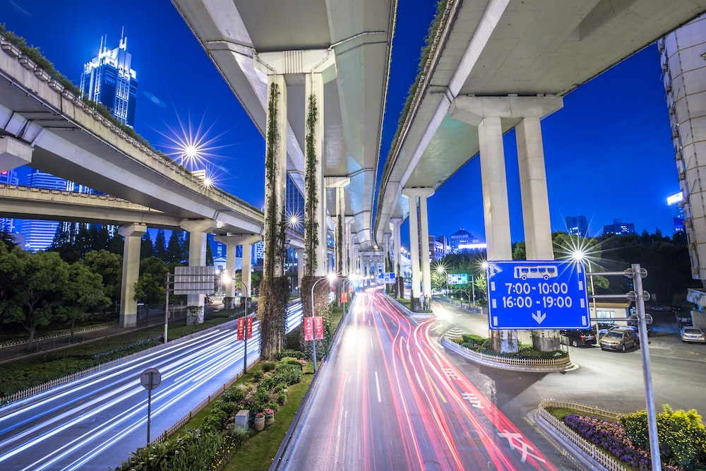 time-lapse photography of road during nighttime