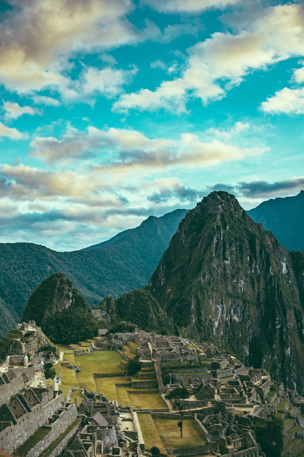 aerial view of Machu Picchu, Peru