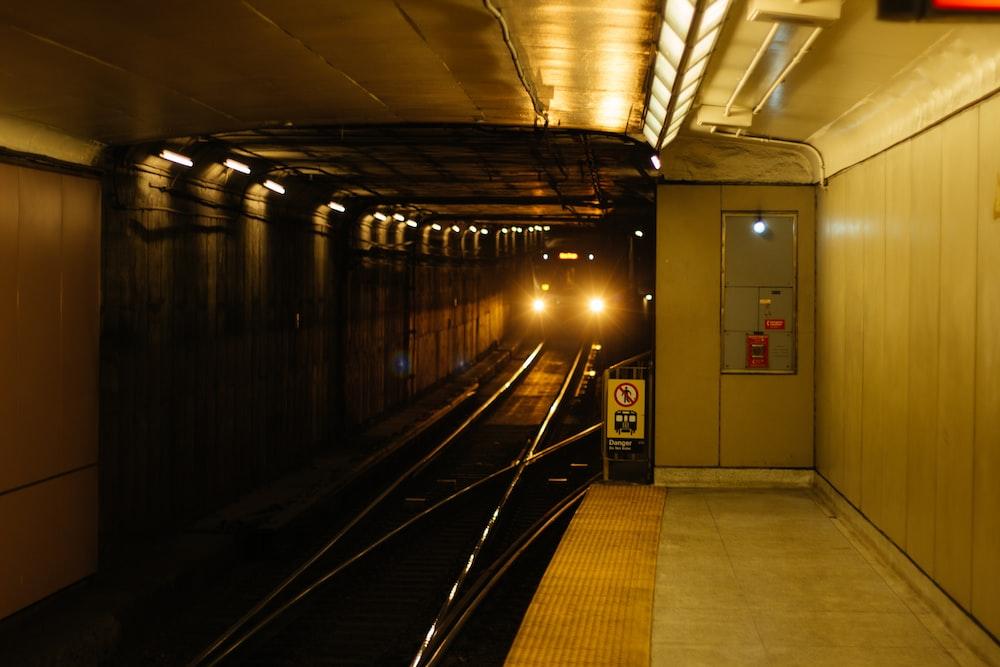 gray train station