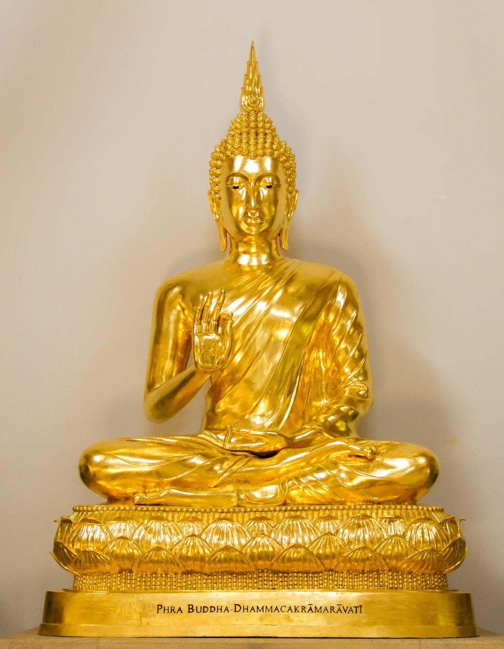 A golden religious statue.