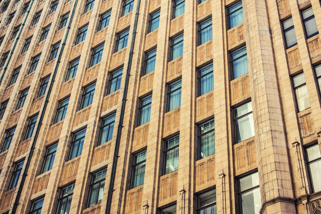 Brown apartment building