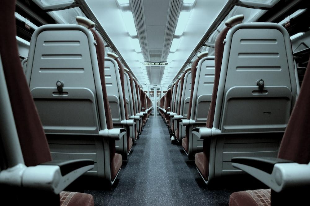 photo of train interior