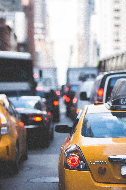 vehicles on street