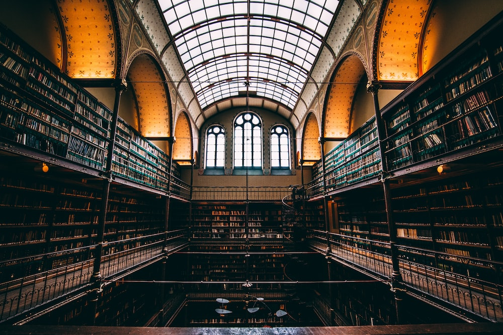 photo of library hall