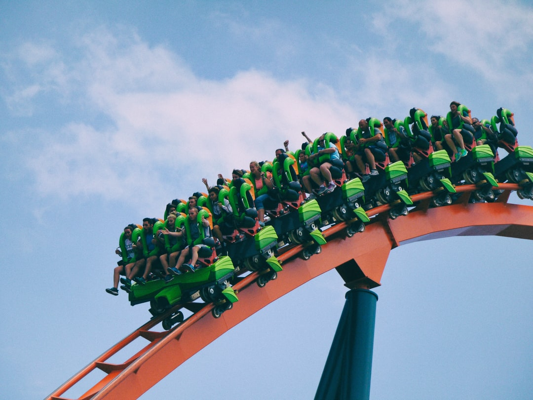 Excited people green rollercoaster