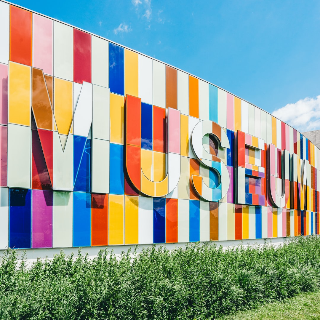 "Colorful ""museum"" sign"