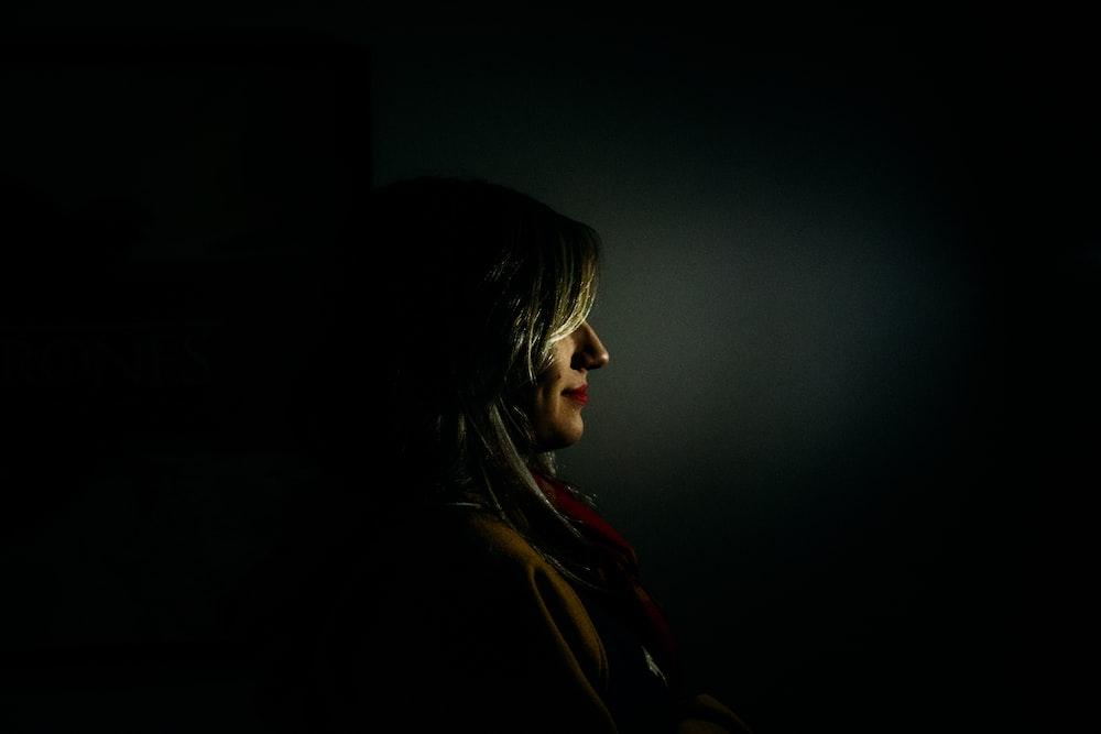 woman facing sideways