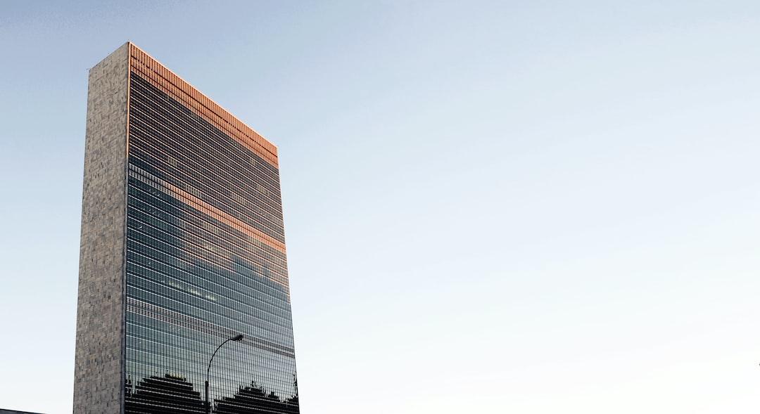 Sunset over UN building
