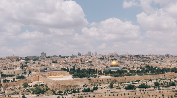 aerial photography of Israel