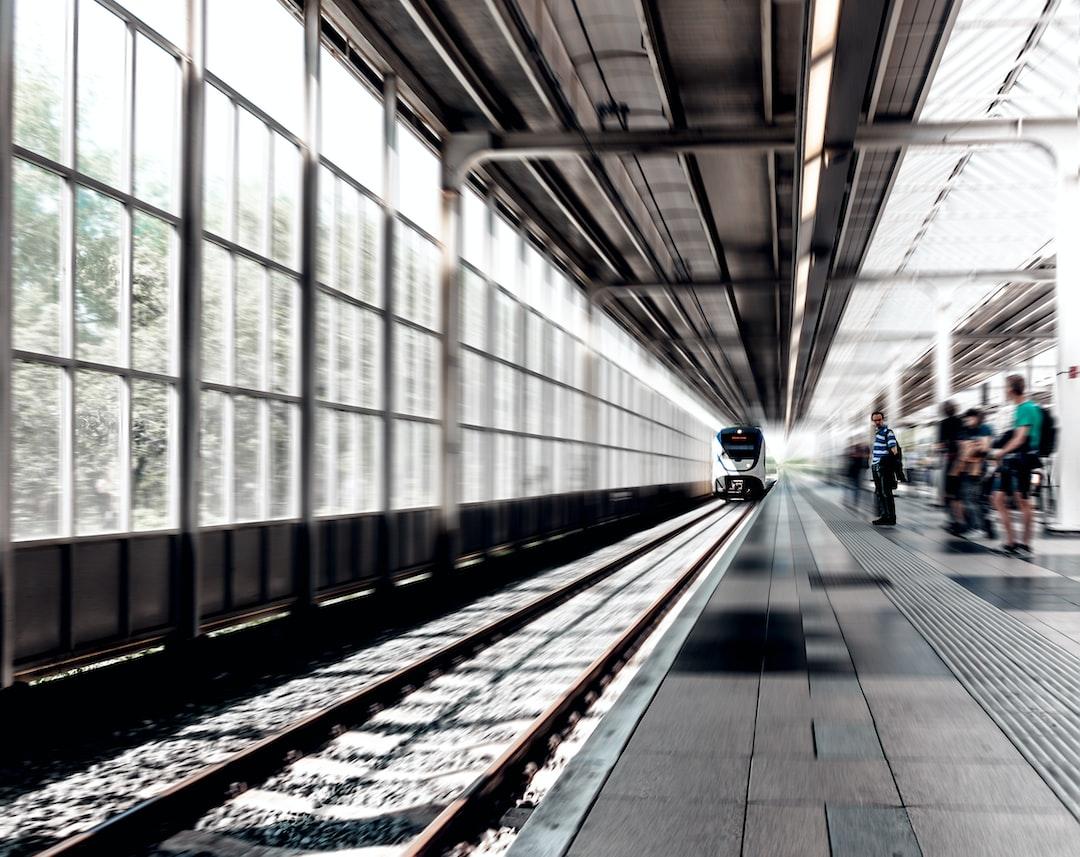 Blurry railway platform