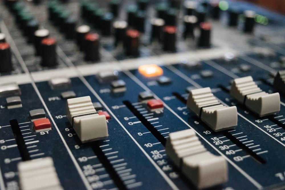 selective focus photo of DJ mixer