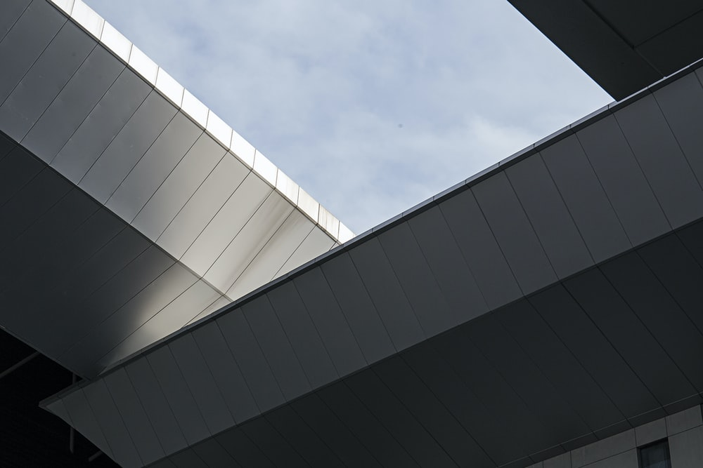 architectural photography of gray concrete building